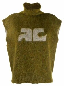 Courrèges sleeveless knit jumper - Green