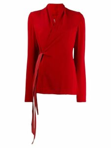 Rick Owens wrap blouse - Red