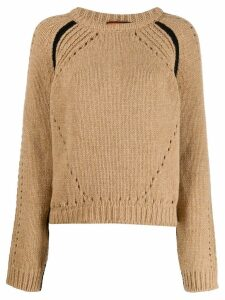 colville boxy fit cut-out detail sweater - Brown