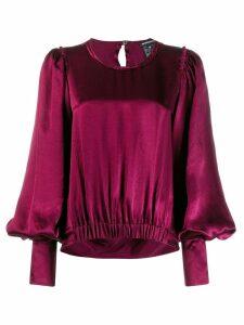 Ann Demeulemeester bell sleeve blouse - Red