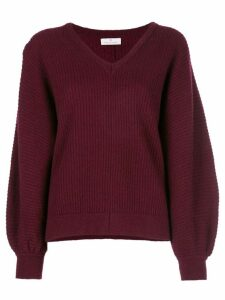Maison Ullens V-neck sweater - PURPLE