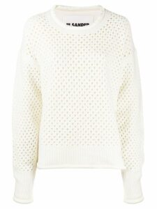 Jil Sander chunky knit sweater - White