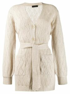 Etro Belted Wool Coat - NEUTRALS