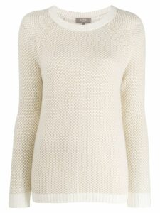 N.Peal long-sleeve fitted sweater - Neutrals