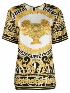Versace baroque print blouse - Black