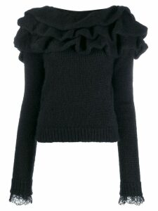 Philosophy Di Lorenzo Serafini ruffled neck jumper - Black