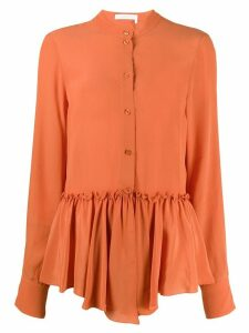 See by Chloé flouncy blouse - ORANGE