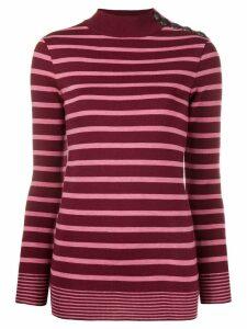 Stella McCartney buttoned shoulder jumper - PINK