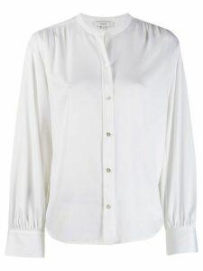 Vince collarless shirt - White