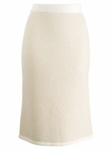 N.Peal slim-fit pencil skirt - NEUTRALS
