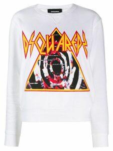 Dsquared2 printed sweatshirt - White