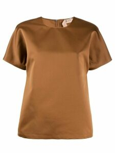 Nº21 shortsleeved blouse - Brown