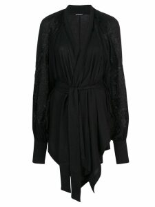 Ann Demeulemeester wrap front cardigan - Black