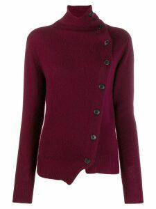 Isabel Marant asymmetric cashmere cardigan - Purple