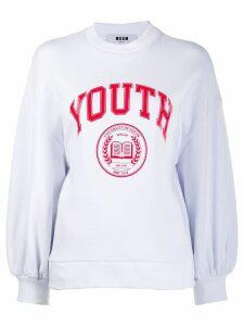 MSGM logo print sweatshirt - White