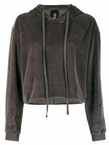 Thom Krom cropped hoodie - Grey