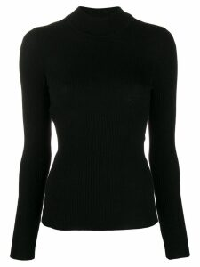 Alberta Ferretti ribbed jumper - Black