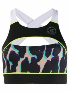 Plein Sport leopard print crop top - Black