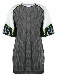 Plein Sport oversized mesh T-shirt - Black