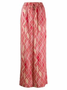 Three Floor Dreamer printed wide trousers - PINK