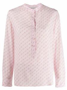 Stella McCartney logo diagonal striped shirt - PINK