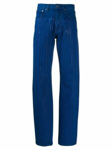 Y/Project striped straight leg jeans - Blue