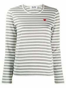 Comme Des Garçons Play striped top - Red