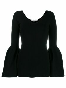 Stella McCartney flared sleeves top - Black