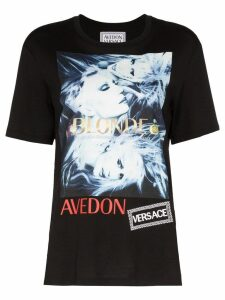 Versace Donatella graphic print T-shirt - Black