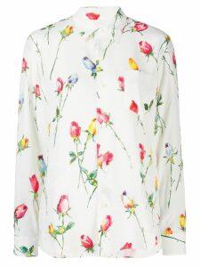 Junya Watanabe rose print blouse - White
