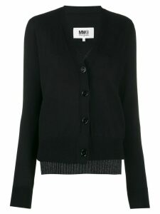 Mm6 Maison Margiela double-layer cardigan - Black