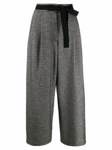 Odeeh cropped wide-leg trousers - Grey