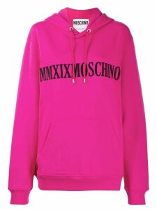 Moschino MMXIX hooded sweatshirt - PINK