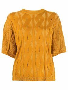 Chloé cable knit sweater - Yellow