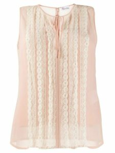Red Valentino lace trim sleeveless blouse - Neutrals