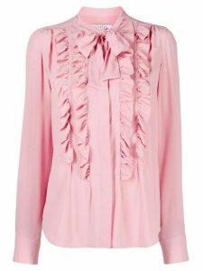 Vivetta ruffle trimmed shirt - PINK