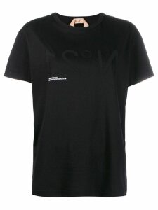 Nº21 inverted logo print T-shirt - Black