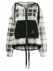 McQ Alexander McQueen checked knit cardigan - White