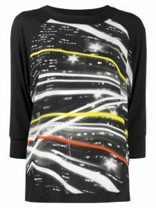 Ultràchic graphic knitted top - Black