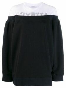 Vivetta glitter logo jumper - Black