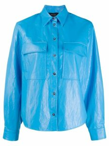 Cédric Charlier chest pocket shirt - Blue