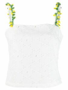 Staud anglaise lace sleeveless top - White