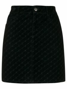Stella McCartney logo mini skirt - Black