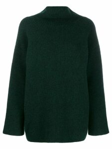 Jacquemus ribbed turtle neck jumper - Green