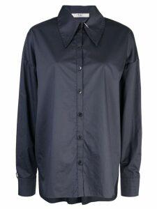 Tibi tech poplin shirt with detached collar - Blue