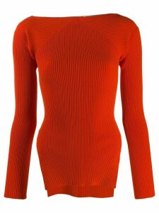 Alexander Wang ribbed knit sweater - Red