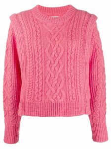 Isabel Marant Étoile cable knit sweater - PINK