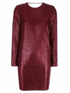 Michelle Mason metallic-effect mini dress - Red