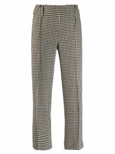 Rokh houndstooth check cropped trousers - NEUTRALS