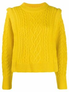 Isabel Marant Étoile cable knit sweater - Yellow
